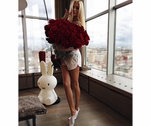 rose, girl, and blonde image
