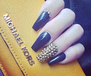 Michael Kors, nails, and yellow image