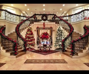 christmas, house, and luxury image