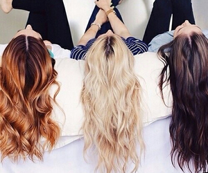 hair, friends, and blonde image