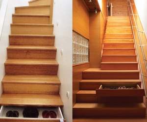 home, stairs, and wooden image
