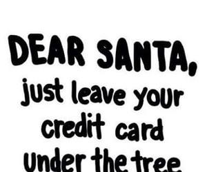 santa, christmas, and credit card image