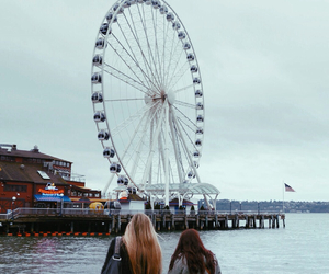 girl, seattle, and travel image
