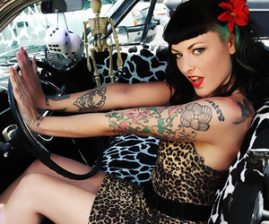 tattoo, rockabilly, and leopard image