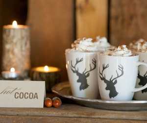 christmas, cocoa, and hot ​chocolate image
