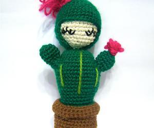 amigurumi, cactus, and amigurumicrochet image