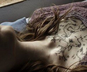 chest, girl, and tattoo image