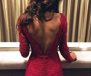 beauty, brown hair, and dress image