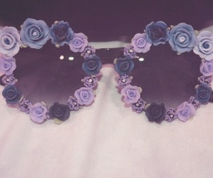 flowers, vintage, and glasses image