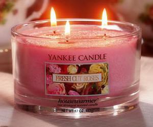 pink, yankee candle, and girly image