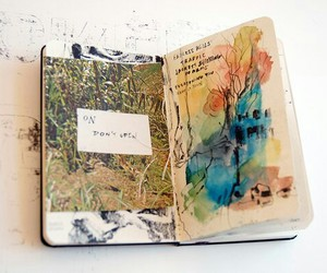 art, journal, and words image