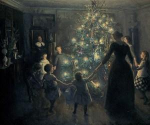 christmas, painting, and art image