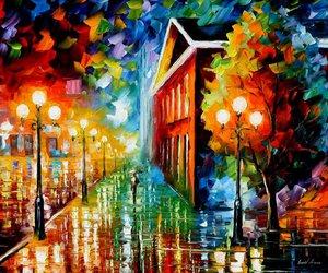 art, colorful, and rain image
