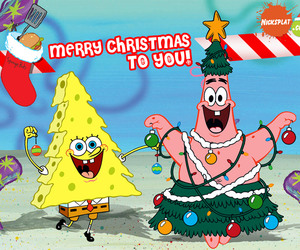 christmas and spongebob image