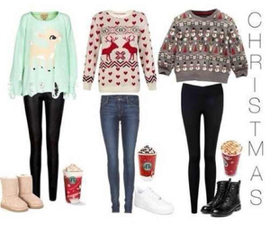 christmas, outfit, and sweater image