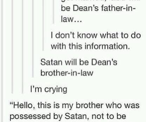 dean winchester, funny, and lucifer image