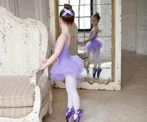 child, purple, and ballerines image