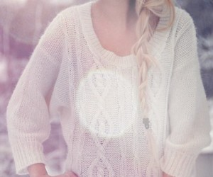 blonde and sweater image