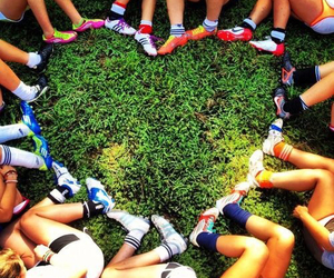 heart, soccer, and friends image