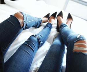 bed, legs, and classy image