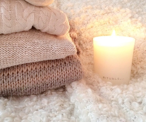 candle, fashion, and sweater image