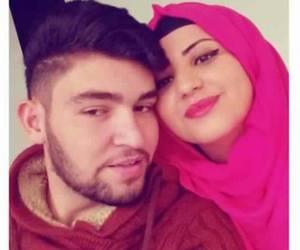 couple, fashion, and hijab image