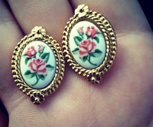 earrings, girls, and style image