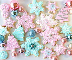 christmas, Cookies, and pink image