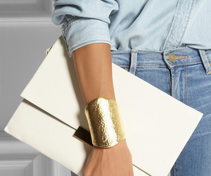 bag, cuff, and gold image