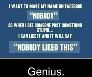 facebook, funny, and genius image