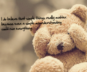 quotes, teddybear, and cute image