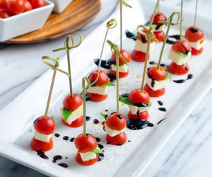 balsamic, basil, and finger food image
