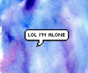 alone and lol image