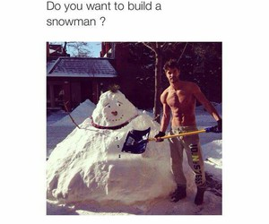 snowman, Hot, and boy image