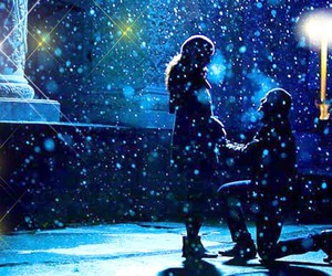 snow, romantic, and winter image