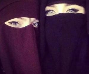niqab, hijab, and muslima image