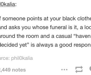 funny, tumblr, and funeral image