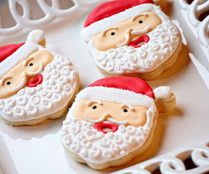 christmas, Cookies, and santa image