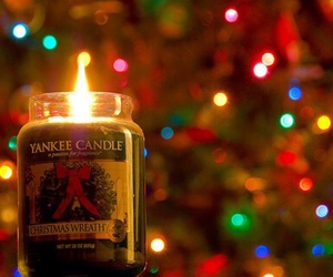 christmas, candle, and light image