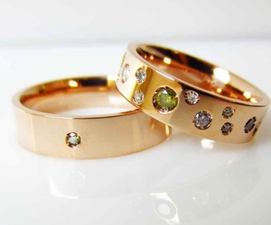 engagement, gold, and ring image
