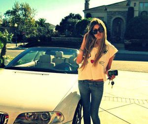 girl, car, and rich image
