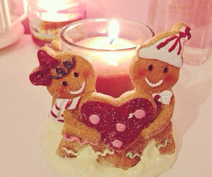 candle and gingerbread image