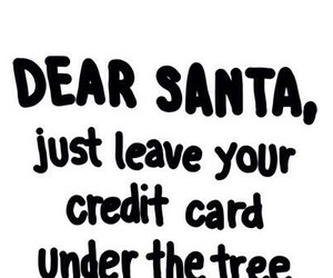 santa, christmas, and credit card image
