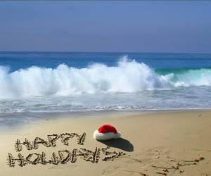 beach, christmas, and holiday image