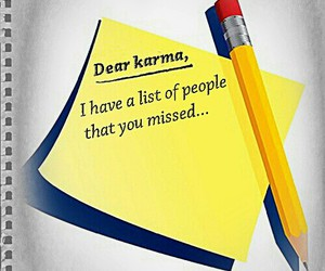 post-it note karma, dear note never forget, and spirituality funny saying image