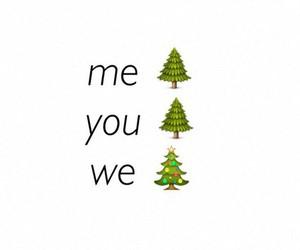 christmas, we, and tree image