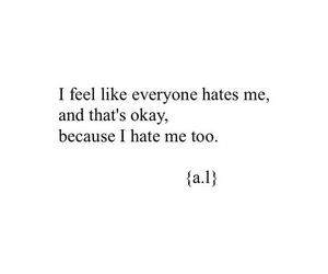 hate, sad, and quotes image