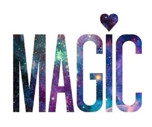 galaxy, magic, and heart image