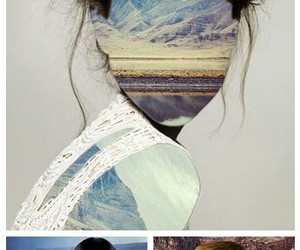 hair, landscape, and weird image