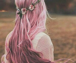 colors, hair, and flower image